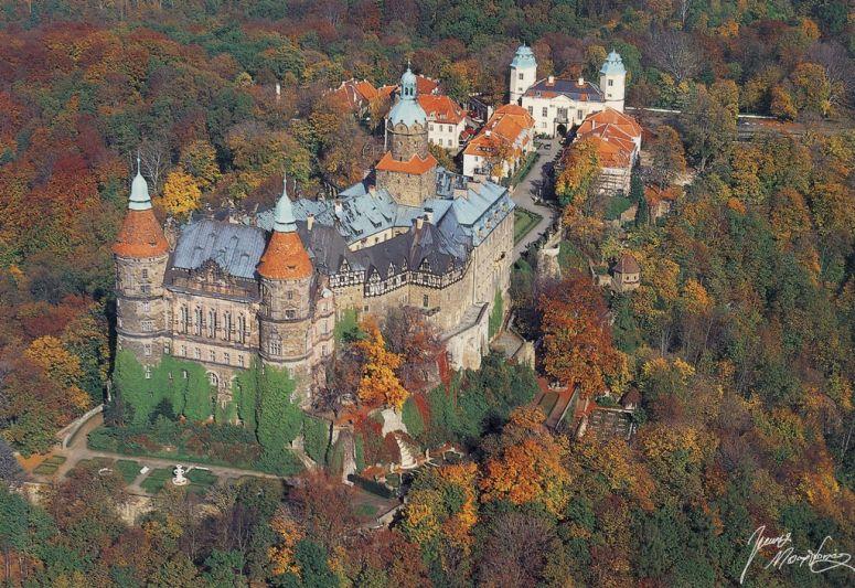 Zamek Ksiaz in de buurt van het vakantiehuis Polen